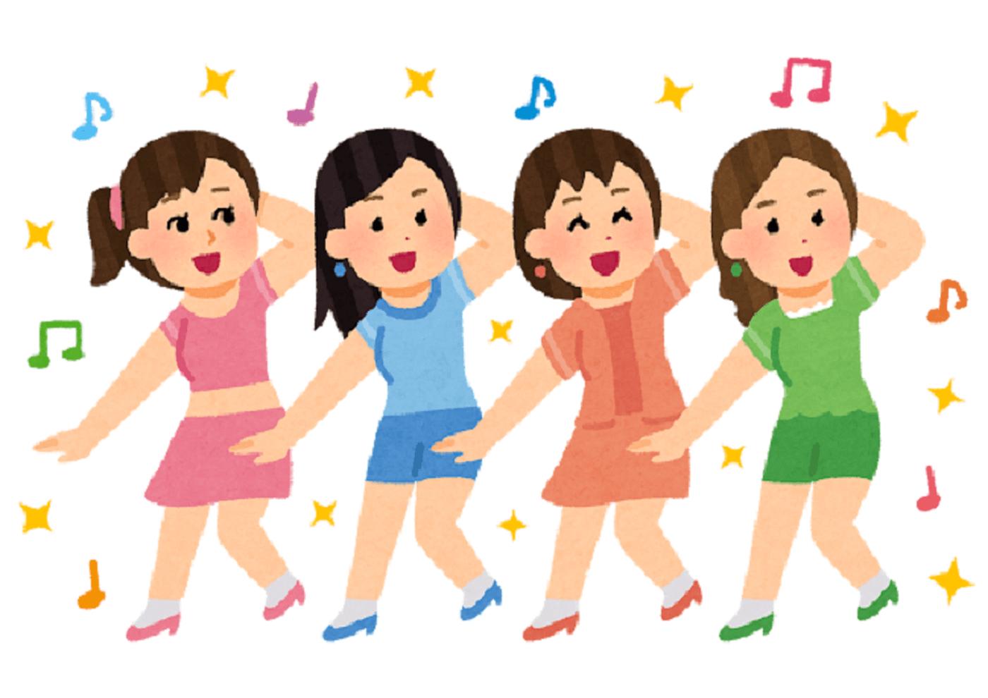 女性ダンスグループ